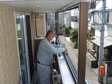 葛飾区 インナーバルコニー窓取り付け工事